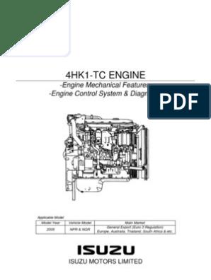 NPR MANUAL Y DIAGRAMA MOTOR ISUZU 729_4HK1_Training pdf | Internal