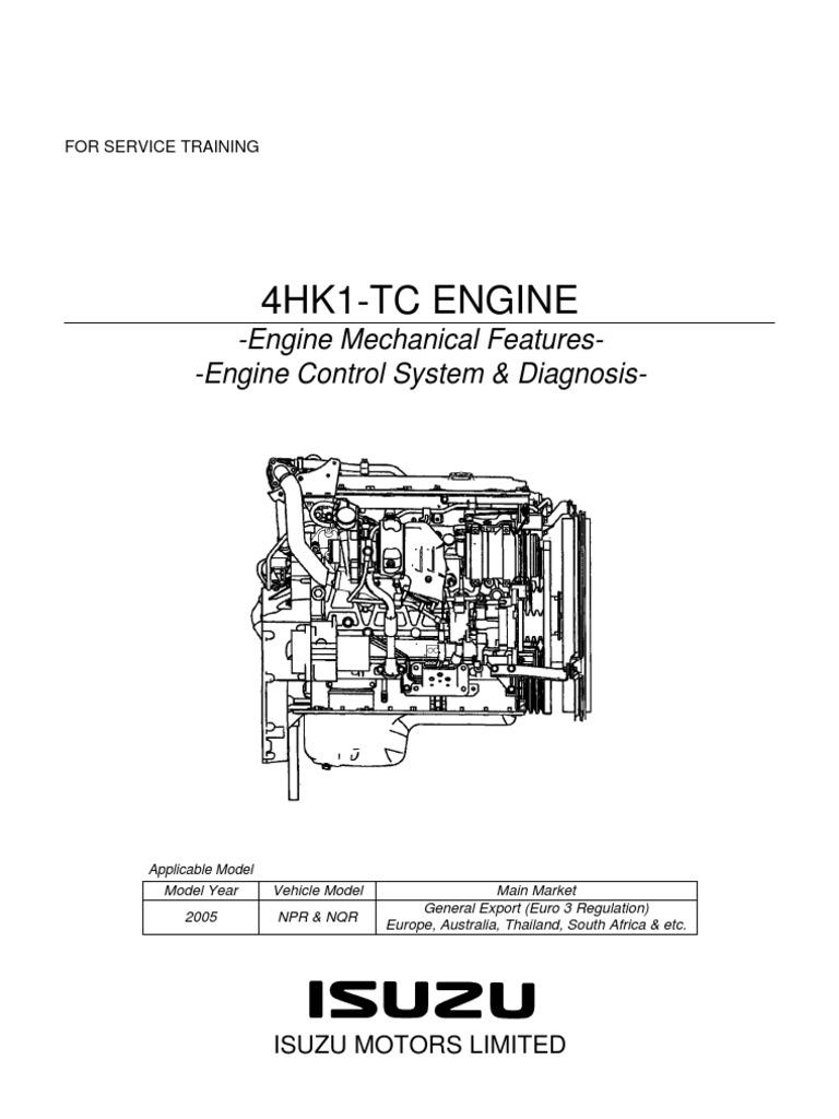 npr manual y diagrama motor isuzu 729 4hk1 training pdf internal rh scribd com Isuzu 4 Cyl Diesel Engine Isuzu Diesel Engine Specifications
