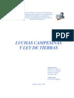 Luchas Campesinas y Ley de Tierras