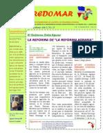 REDOMAR Año 2, No.13. EL GOBIERNO DEBE APURAR LA REFORMA  DE LA REFORMA AGRARIA