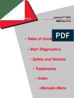 Lexmark T62X 4069 Service Manual