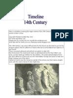14th Century Timeline Notebook