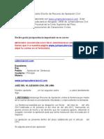 Modelo Escrito de Recurso de Apelación Civil