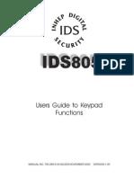 Ids805 User manual
