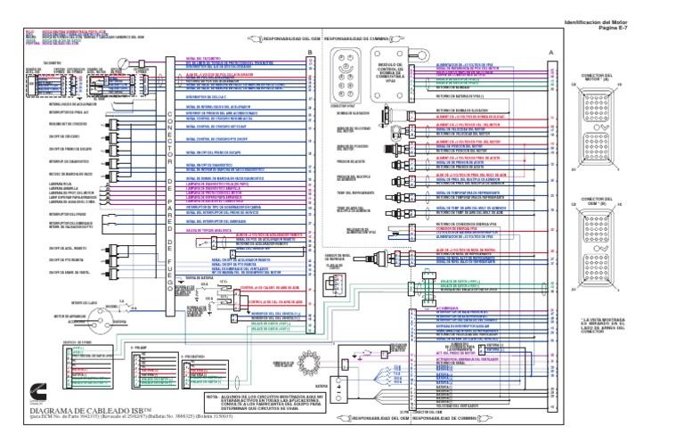 detroit ddec iv wiring diagram diagrama de cableado del isb  diagrama de cableado del isb