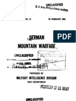 German Mountain Warfare