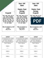 Food Storage Shopping List