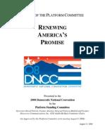 2008 Democratic Platform