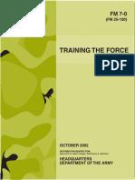 fm 7-0 (25-100) training the force