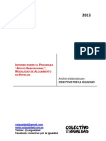 Informe Programa Apoyo Habitacional - Colectivo Por La Igualdad - Febrero 2013