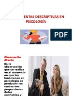 HERRAMIENTAS DESCRIPTIVAS EN PSICOLOGÍA
