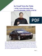 Tesla Motors Profits (Losses)-Revenues Analysis and a New Measure of Profitability (MPR)