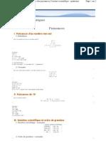 Www.ilemaths.net Maths 4 Puissances Cour s.php