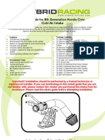 Hybrid Racing 8th Gen CAI Install Guide