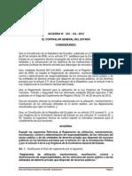Acuerdo 016 - CG - 2012 Reformas Al Reglamento de Vehiculos Del Sector Publico