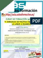 V Jornadas de Politica Educativa La Lomce a Examen