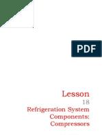 18 Refrigeration System Components- Compressors