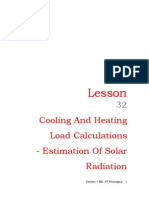32 Cooling and Heating Load Calculations-Eatimation of Solar Radiation