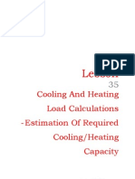 35 Cooling and Heating Load Calculations