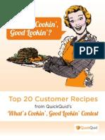 QuickQuid Top 20 Customer Recipes