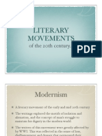 Literary Movements of the 20th Century Powerpoint