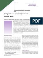 Congenital and neonatal pneumonia     PAEDIATRIC RESPIRATORY REVIEWS (2007) 8, 195–203     Michael D. Nissen