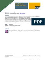 Area Menu for SAP Query