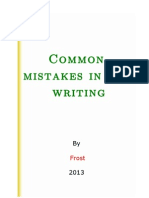 Common Mistakes in ESL Writing