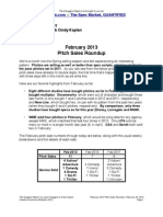 Scoggins Report - February 2013 Pitch Sales Roundup