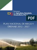 ( Libro ) Plan Nacional de Riego y Drenaje