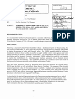 City of Salinas and DeepWater Desal LLC and California Water Service Company Agreement