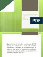 EDUCACIÓN EN LA REVOLUCIÓN
