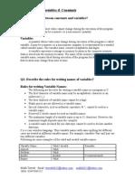 C language basic Chapter No 2, tayyab8632, 03445064252