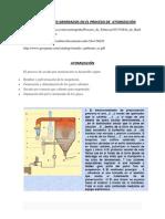 CONTAMINANTES GENERADOS EN EL PROCESO DE  ATOMIZACIÓN