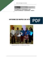 Informe Mapeo de Actores