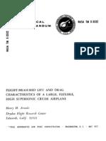 Flight Measured Lift and Drag Characteristics
