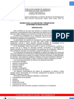 Normas UNERMB de elaboración y presentación de Informes de Investigación 2005