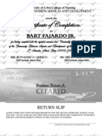 Certificate - Completion 2nd Sem 08-09 Sample Only