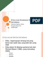 Keamanan Dan Etika Sistem Informasi