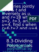 8.3 8.4 Dividing Polynomial