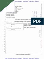 ThermoLife International v. Pharmafreak Holdings