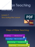 7 Structuring the Lesson