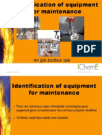 IdentificationOfEquipmentForMaintenance.ppt