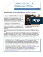 Cólera Haití - Boletín Grupo de Salud 1 (12 nov 2010)