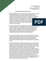 Análisis del manual de operaciones
