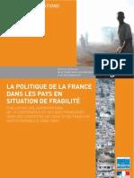 [DgCiD n°103] La politique de la France dans les pays en situation de fragilité. (...) 2000-2007