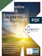 Brochure of Luxoft Automotive Software by Luxoft Software Development