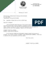 Sample Letter for Buyback Information