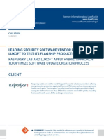 Case Study Leading Security Software Vendor Software Luxoft for Kaspersky Lab