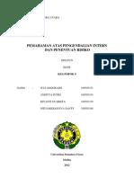 Pemahaman Atas Pengendalian Intern ( FIX )